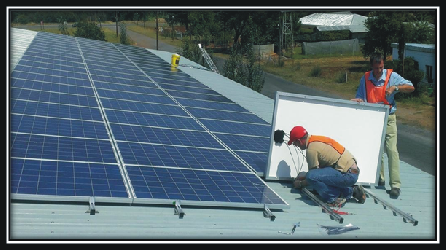 15kW PV solar panel installation at The Roots, Potchefstroom
